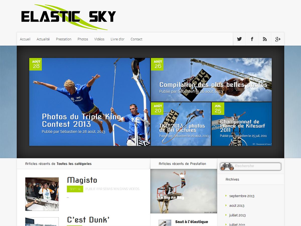 Site de ELASTIC SKY