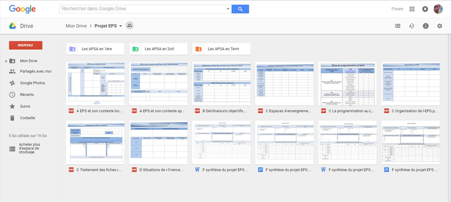 Google-Drive-projet-EPS