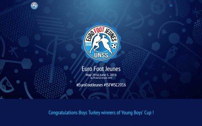 Site web de l'Euro Foot Jeunes 2016